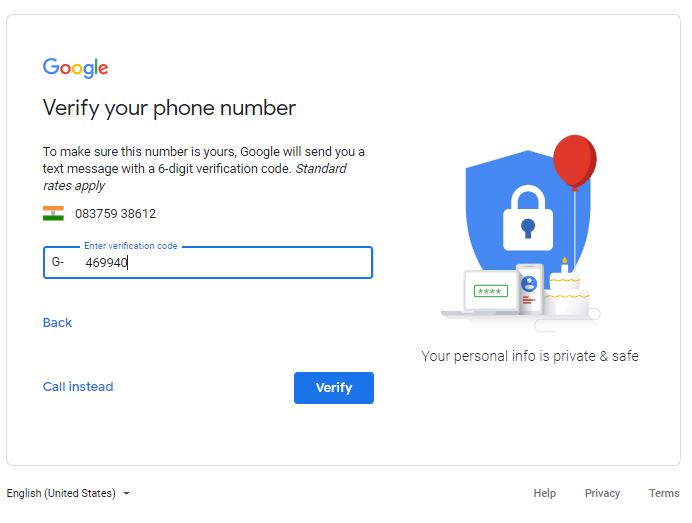 how to create gmail account in phone