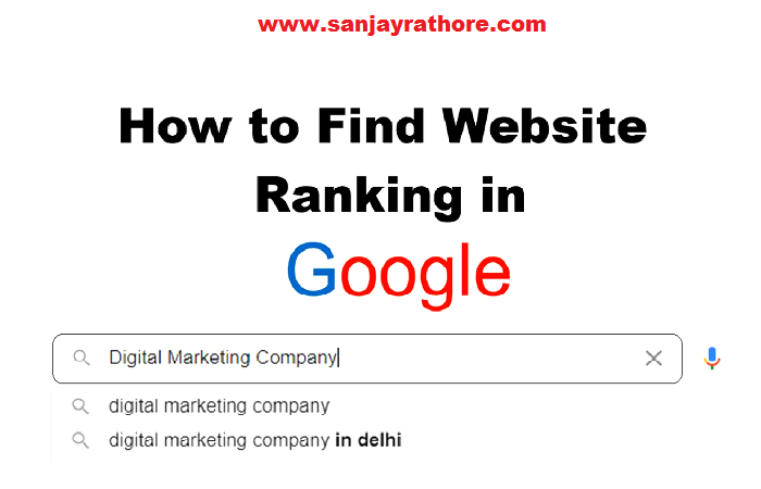 How to Find Website Ranking in Google