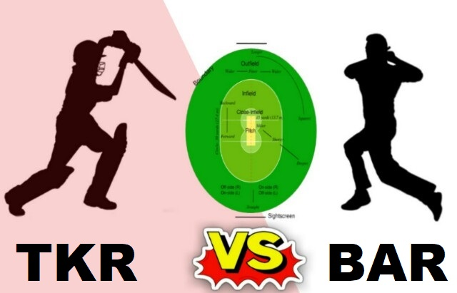 TKR Vs BAR Dream11 Team